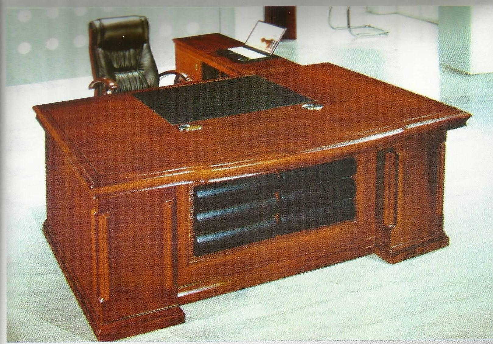 wooden office tables. Stylish And Durable Wooden Office Table, Made From Teak Wood ,melamine Polished , With Side Extention For Filing Sorage Tables
